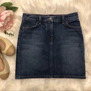 Classic J. Crew Denim Skirt With Pockets Size 0